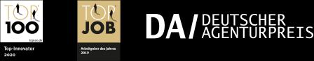 """arven.io besitzt die Auszeichnungen """"TOP-JOB 2019"""", """"TOP-100-INNOVATOR 2020"""", """"DEUTSCHER AGENTURPREIS"""""""