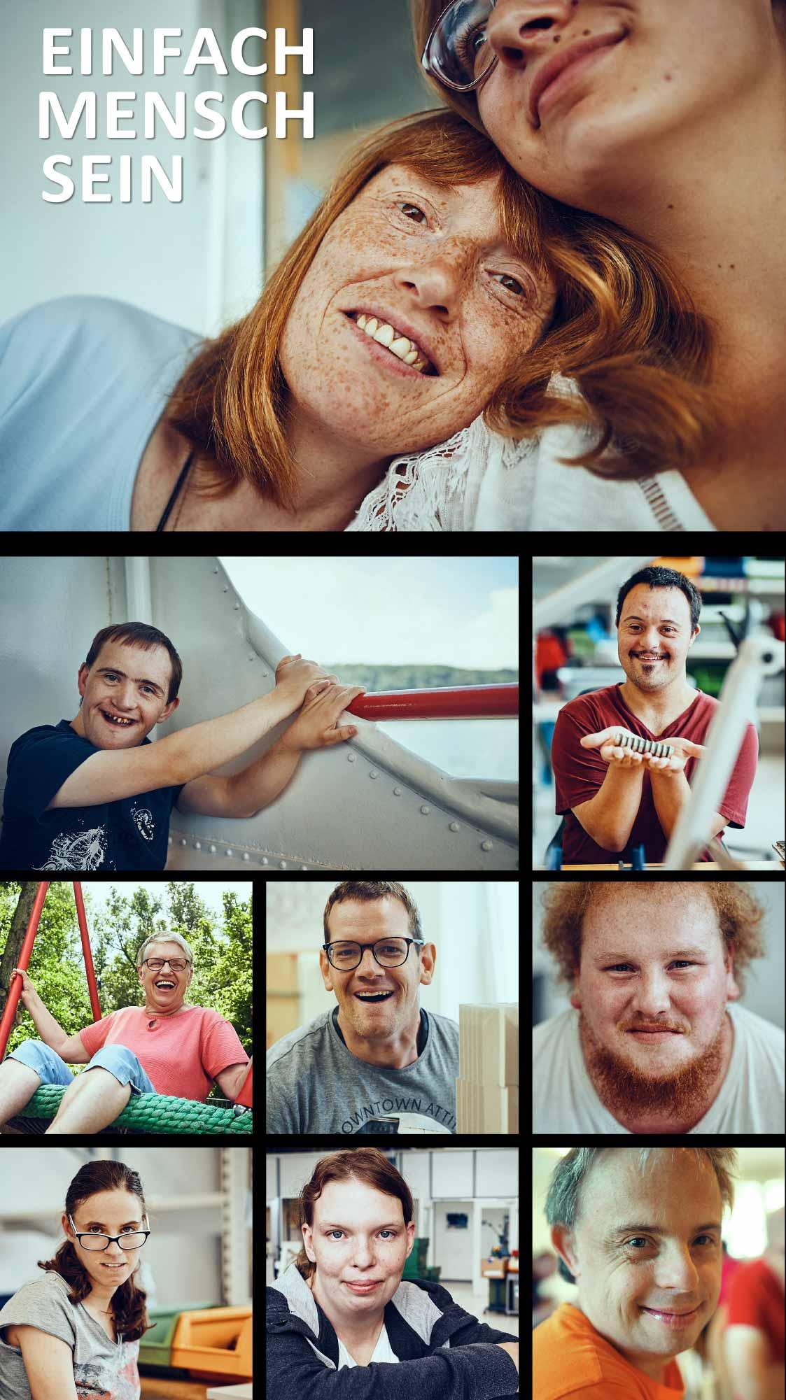 Eine Zusammenstellung verschiedener Bilder der Lebenshilfe im Kreis Rottweil gGmbH