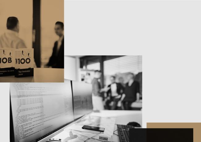 Eine Fotokollage von Objekten der arvenio marketing GmbH