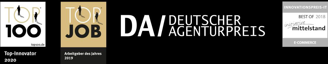 Auszeichnungen der arvenio marketing GmbH