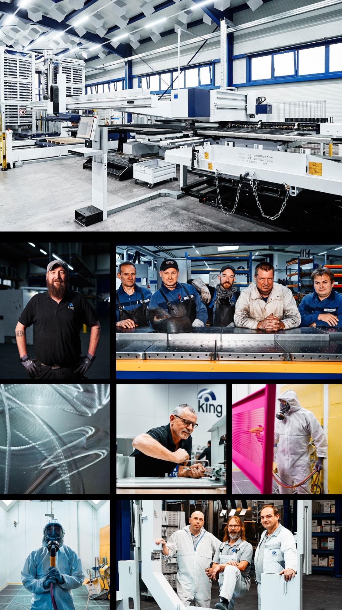 Eine Zusammenstellung verschiedener Bilder der King GmbH