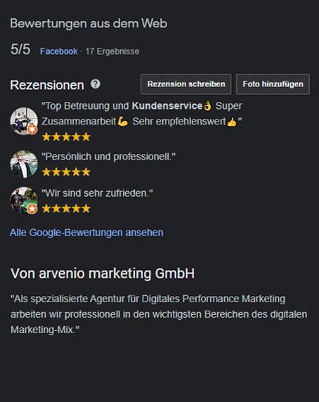 arvenio marketing Google My Business Eintrag